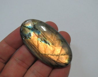LARGE 58mm Labradorite Spectrolite Gemstone Cabochon PALM Lapidary Rainbow fire Worry stone Palm stone metaphysical Healing crystal chakra