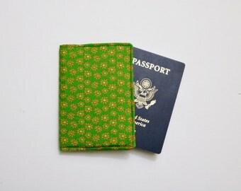 Passport cover, Passport Holder, Personalized Passport Holder, Personalized Passport cover - Green