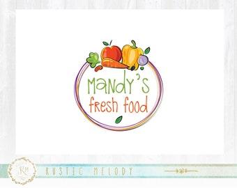 Grocery Logo, Fruits Logo, Vegetables Logo, Food Logo, Farm Logo, Food Blog Logo, Organic Food Logo, Logo Design