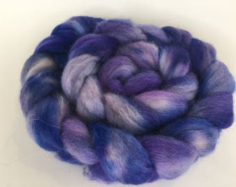 Hand Dyed BFL Spinning Fiber Kettle Dyed Combed Top Roving