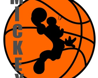 Mickey Mouse Basketball - svg, pdf, png files