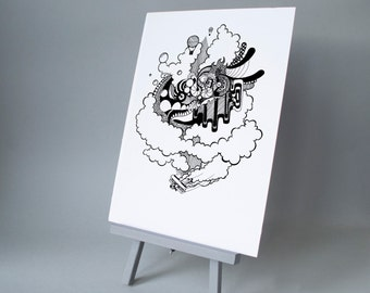 Get Your Head Out The Clouds A3 & A4 Print
