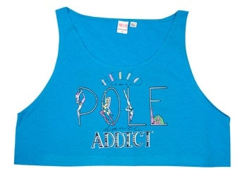 Pole Dance Loose Crop Tank Top || Pole Dancing Addict