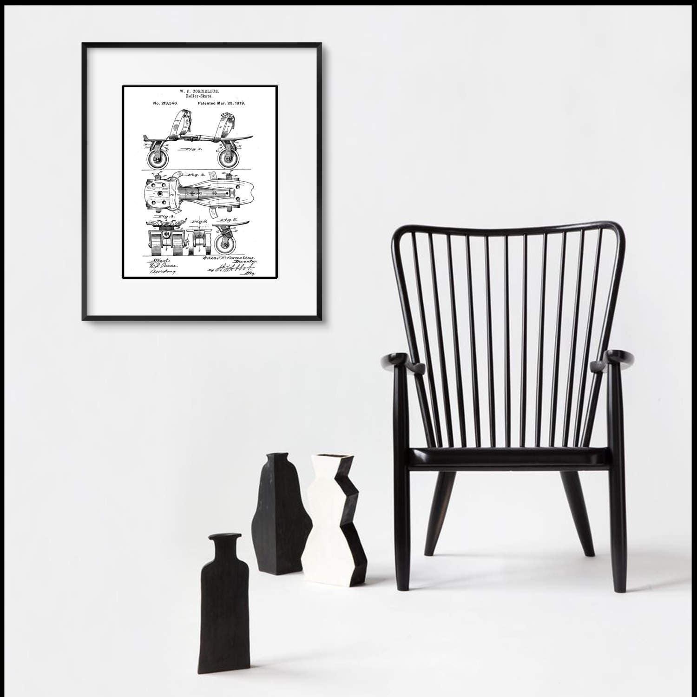 Rollerskate Patent Illustration Matted And Framed Or Just