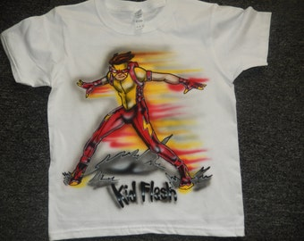 The Flash Custom Airbrushed tshirt free personalization