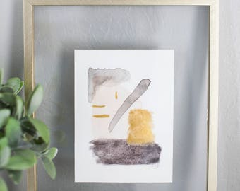Watercolor Abstract Study Painting No. 2   8x10 framed watercolor painting