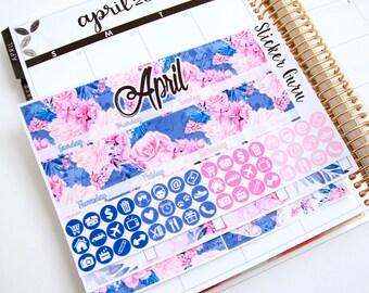 April Monthly Kit 2017 // Monthly Planner Sticker Kit // Erin Condren Planner Stickers ECLP [M003]