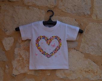 tshirt,heart,floer,love,present,gift,birthday,girl,best price,made Greece,cotton,hi qality