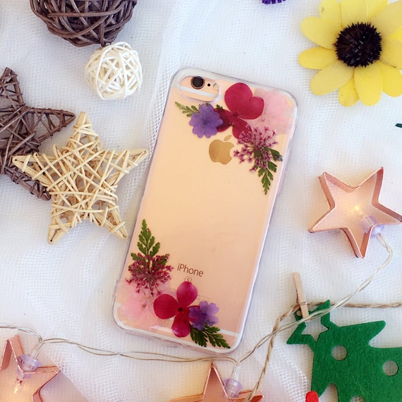 ... note4 note 5 Pressed Flower Case Real dried flowers Floral Phone case