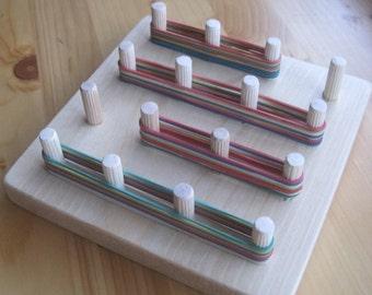 Wooden Toy GeoBoard, Children educational toy Geo board, Montessori toy, Waldorf toy