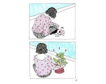 Plants Are Motivation Illustration
