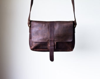 Distressed Leather Crossbody Bag, leather purse, leather women bag, genuine leather