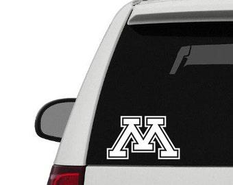 University of Minnesota Decal Sticker, Golden Gophers Sticker, U of M Sticker, Minnesota Decal