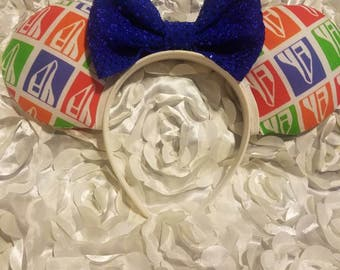 Monorail Mouse Ears- Minnie Mouse Ears- Mickey Mouse Ears- Bows- Disney world- disneyland