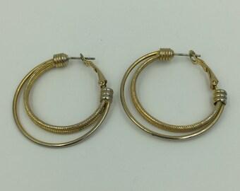 Two Tone hoop Earrings     BUY 3 Get 1 FREE