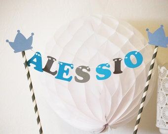 Mini cake wreath - personalized first name - crown prince