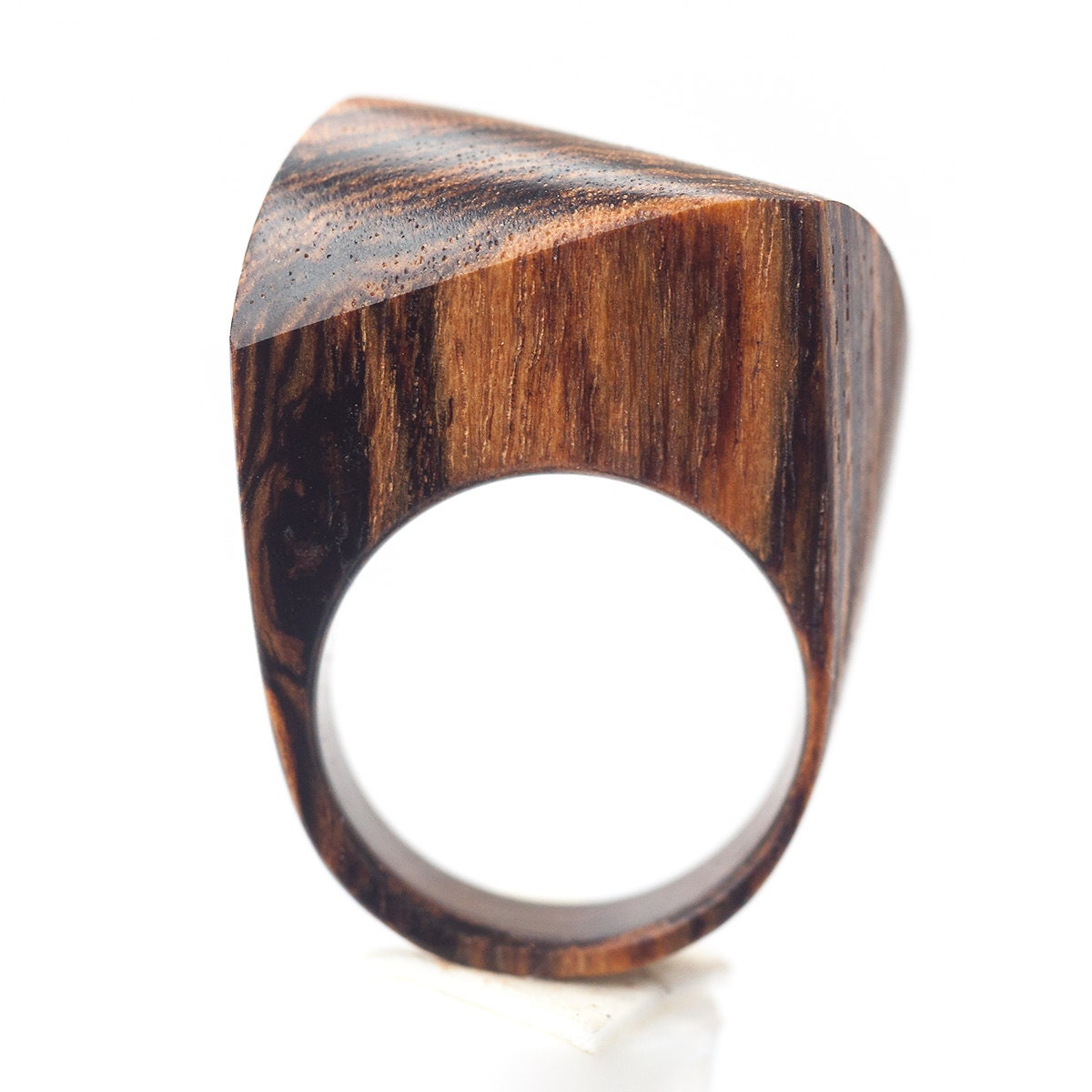 wooden ring bocote wood ring ring wooden jewelry