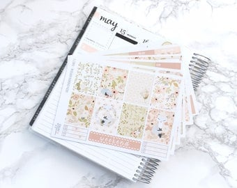MATTE EC-V Foxy Floral DELUXE Planner Sticker Kit - For Erin Condren Vertical Life Planner