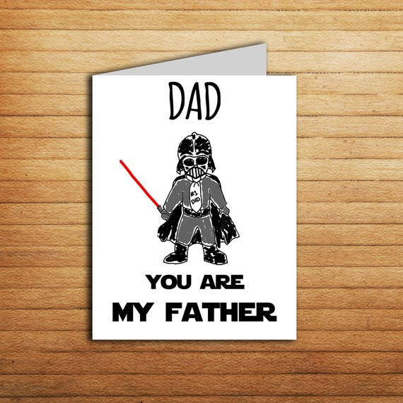 Star Wars Fathers Day Card Printable Darth Vader Card For Dad