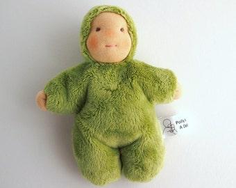 Waldorf baby doll, cuddle doll, pocket doll, OOAK doll, Plushie, cloth doll, handmade doll, toddler gift, soft body doll, pocket baby,