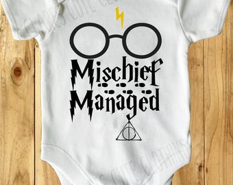 Harry Potter mischief managed baby vest/ romper/bodysuit