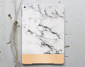 Unique iPad Cases iPad 4 Cover iPad Mini 2 Case Cute Cases iPad Mini 4 Case iPad Smart Case iPad 2 Cover iPad Pro White Marble Golden i197