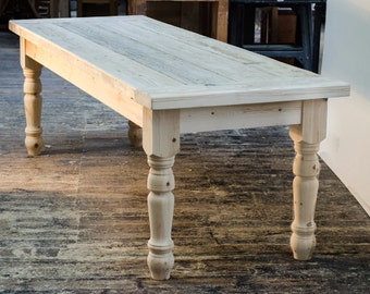 HUGE REDUCTION Solid  Farmhouse Table With 5 Inch Chunky Legs - Choose Your Colour Scheme (sizes up to 8 ft)