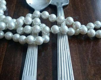 Vintage Silver Plate spoon and salad fork from Hilton Hotel