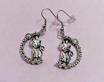Sweet kitty earrings