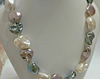 Pearl necklace, mother of pearl necklace, birthday gift