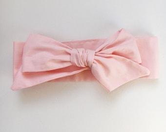 Baby Head Wrap Blush Pink - Bow Headband