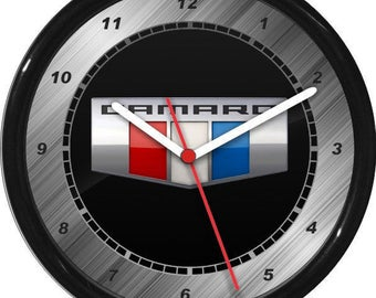 Camaro Wall Clock Garage Work Shop Gift Father's Day Man Cave Rec Room