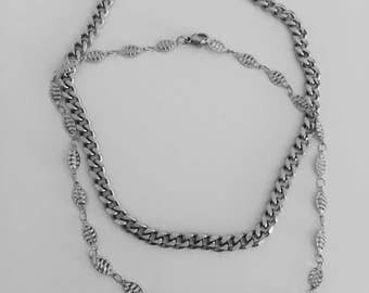 Delicate Silver Chain Choker Necklace