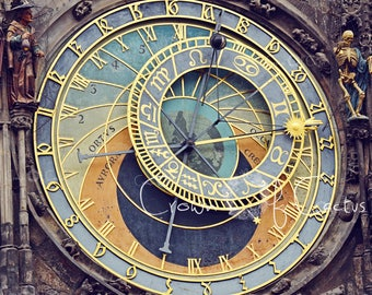 Prague Czech Republic Astronomical Clock Face Orloji~ Square ~ Digital Download Image ~Praha Bohemia Urban Home Wall Art Photography print