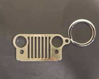 Jeep Wrangler Grill Keychains - Chrome Color - Limited Run!