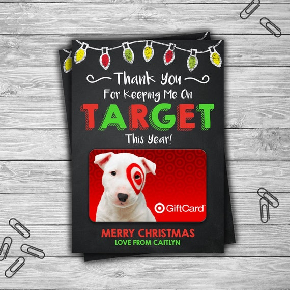 PRINTABLE Personalized Christmas Gift Card Holder Target End