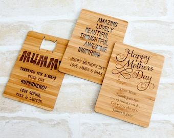 Mothers Day Wood Card