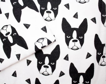 Baby Swaddle, Dog Baby Blanket, boston terrier blanket, Swaddle, 100% Organic Knit cotton, Baby gift, animal, dogs, Homecoming Blanket,