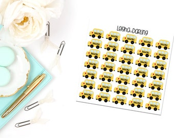 School Bus Planner Stickers