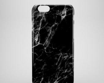 Black Marble iPhone 7 Case, Marble iphone 7 plus case, iPhone 7 covers, marble phone cases, hipster iPhone 7 case, iPhone 7+ cases