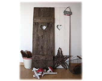 Shutters with heart, shabby chic, vintage