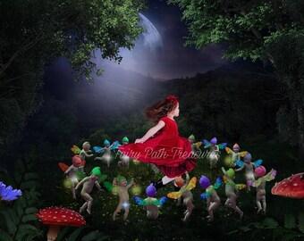 Midsummer's Eve, The Fairy Ring, Digital Backdrop