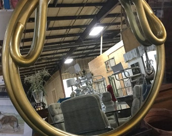 Ca.1960s, Italy Restored Gold Swan Mirror