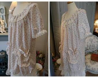DRESS CECILIA FLEURIE romantic, shabby chic, hippie, Gypsy, Victorian, gohique