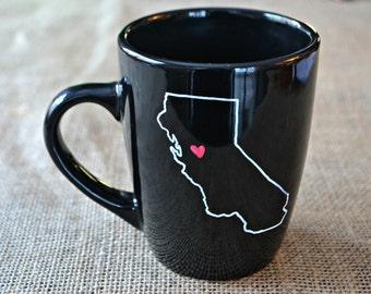California Mug - Hand Painted Coffee Mug Cali Mug Mug- Morning Coffee Cup - Hand painted Mug California Love Cup Mug - Customizable