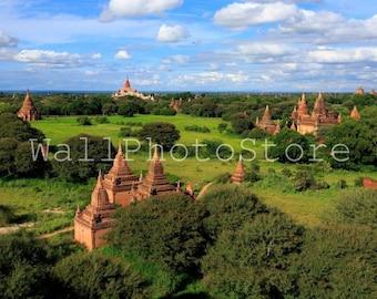 Myanmar Photography, Old Pagodas in Bagan, Asia Photography, Travel Photography, Fine Art Photography, Print Photography, Wall Art Print