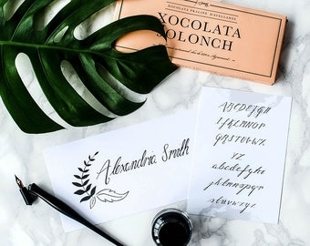 Personalised Name Calligraphy Kit