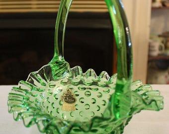 Vintage Fenton Springtime Green 3837 GT Basket