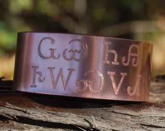 Cherokee Wolf You Feed Cuff, Bracelet in Copper