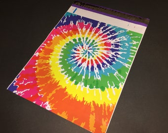 50 Designer 10x13 TIE DYE Rainbow Poly Mailers Envelopes Shipping Bags